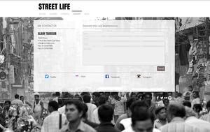Capture d'écran d'une page de contact en français sur un site de photographie