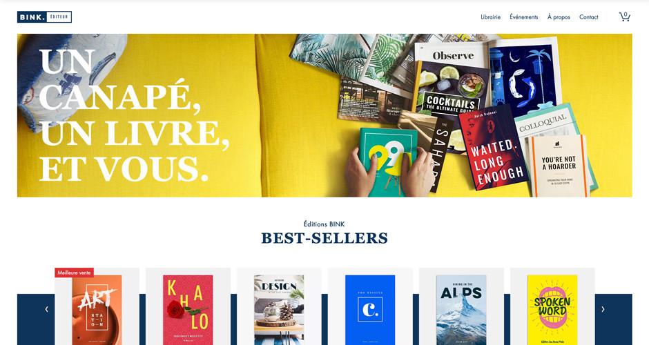 template librairie en ligne