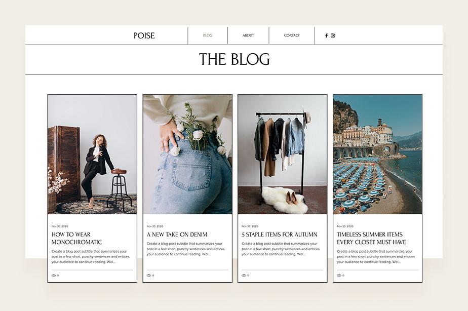 전문 패션 블로그로 아름다운 이미지와 함께 블로그 글이 함께 게시된 이미지