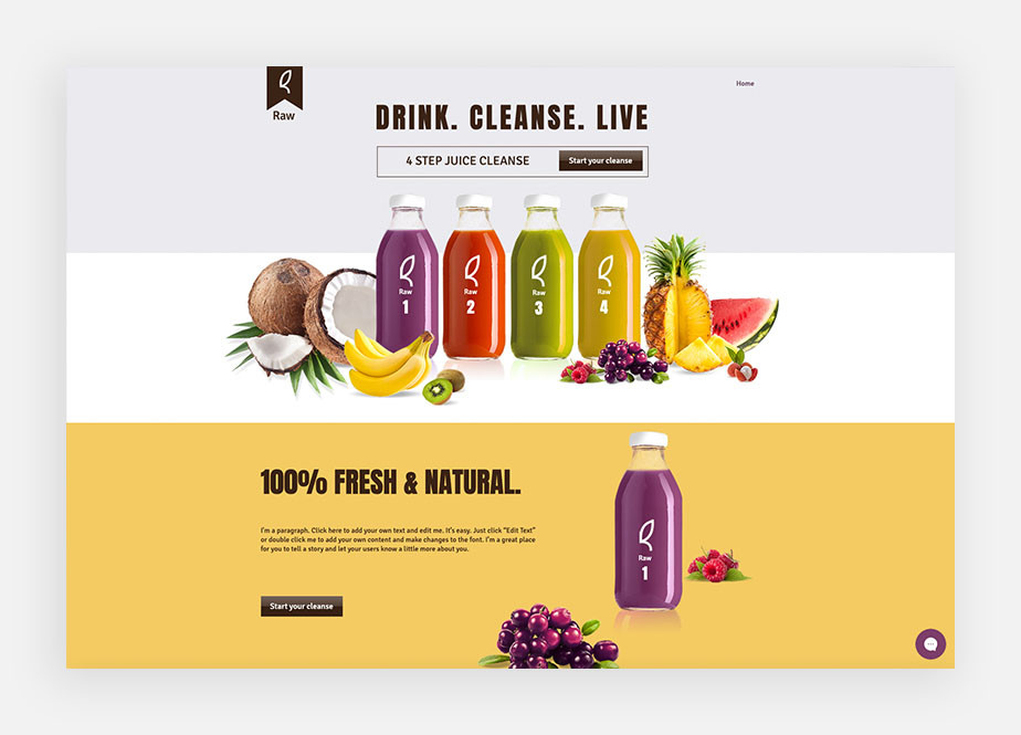 Ejemplo de landing page de producto