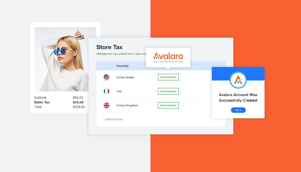 Pulpit Avalara - podatek od towarów i usług w sklepie online