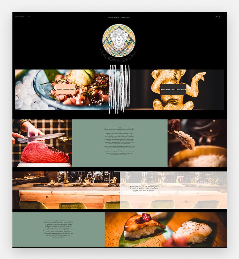 Inspiracion para pagina de internet de restaurante
