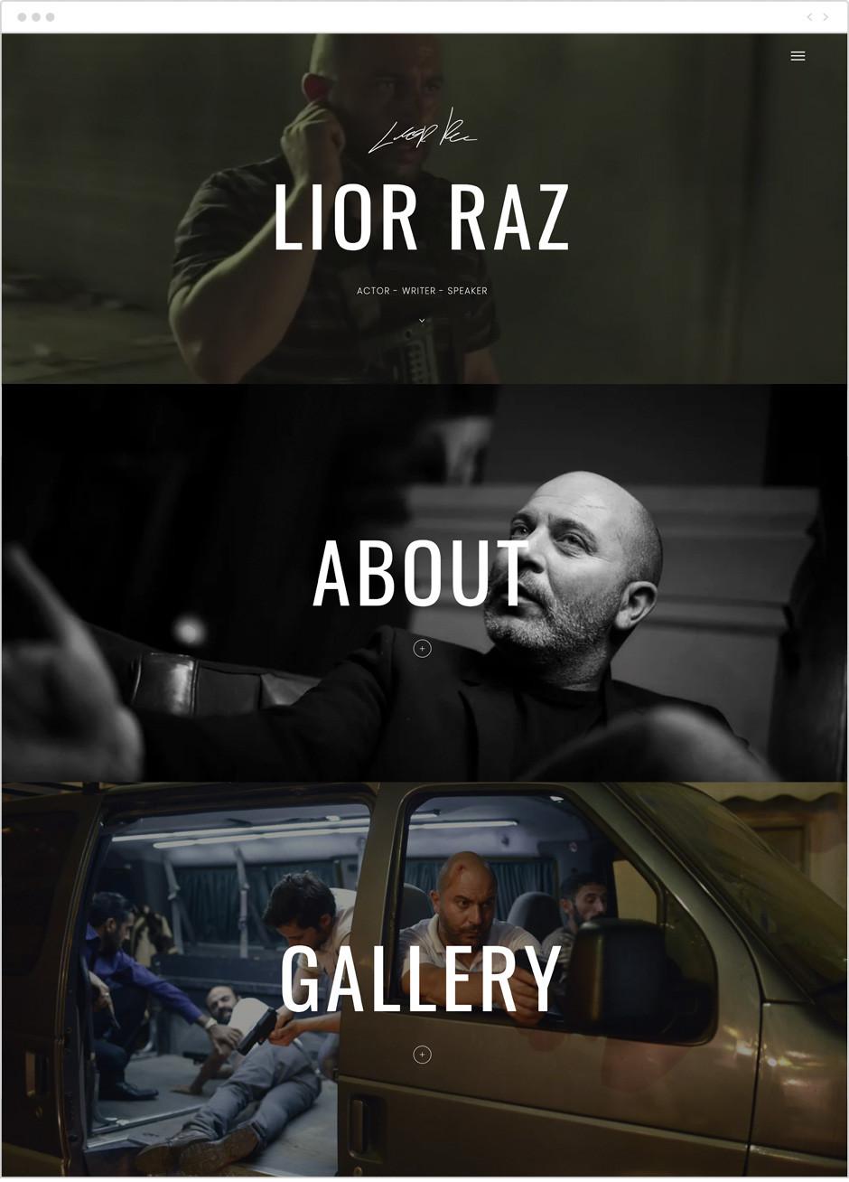 Actor website by Lior Raz