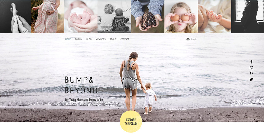 Young moms blog template