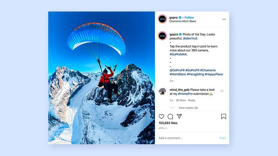 Czym jest content marketing: GoPro