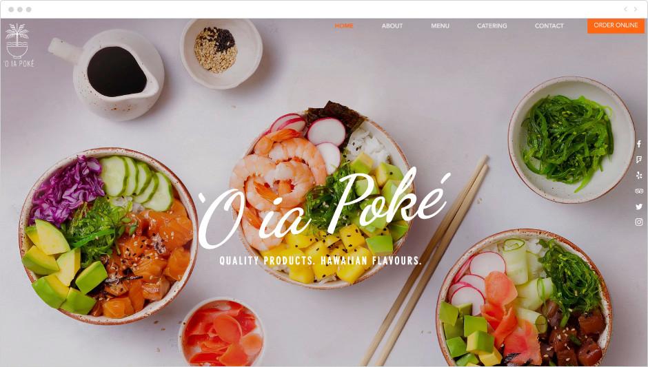 Poke restaurant template