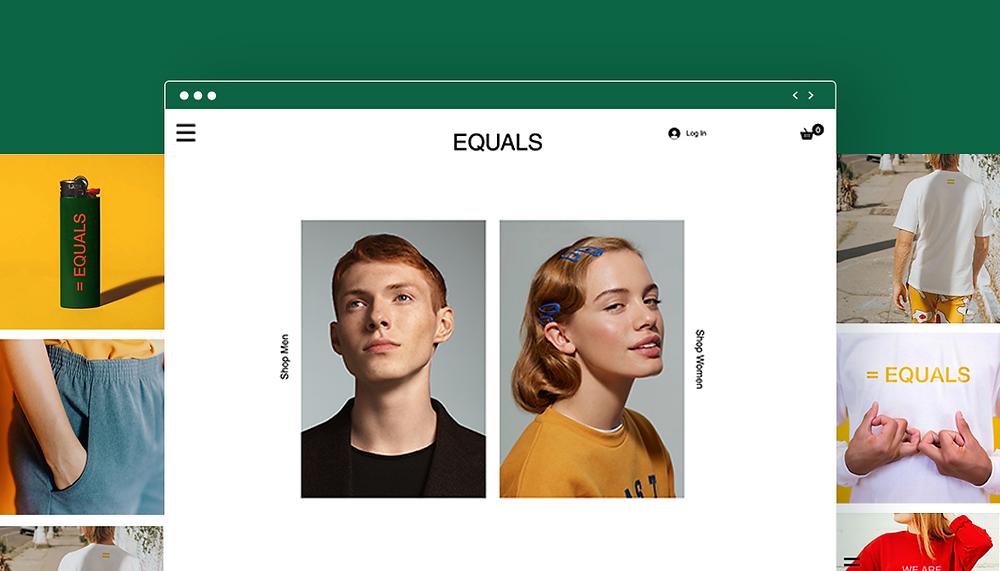Bild eines Onepgers der Marke EQUALS mit einem Mann und einer Frau