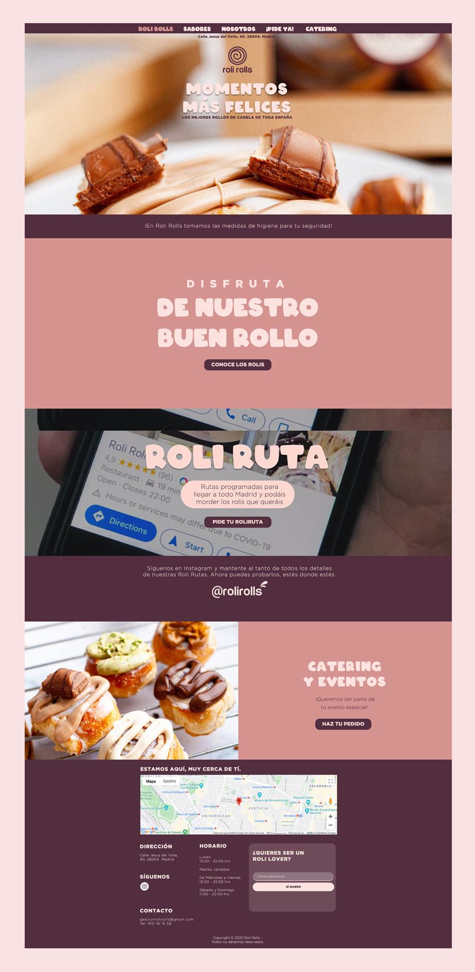 Pagina web de panaderia