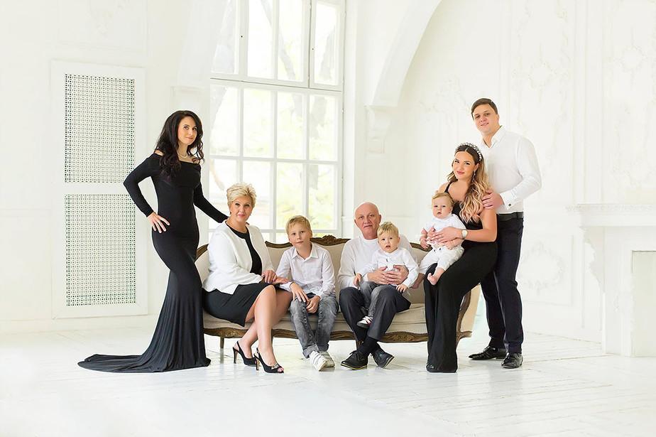 luxurious family portrait
