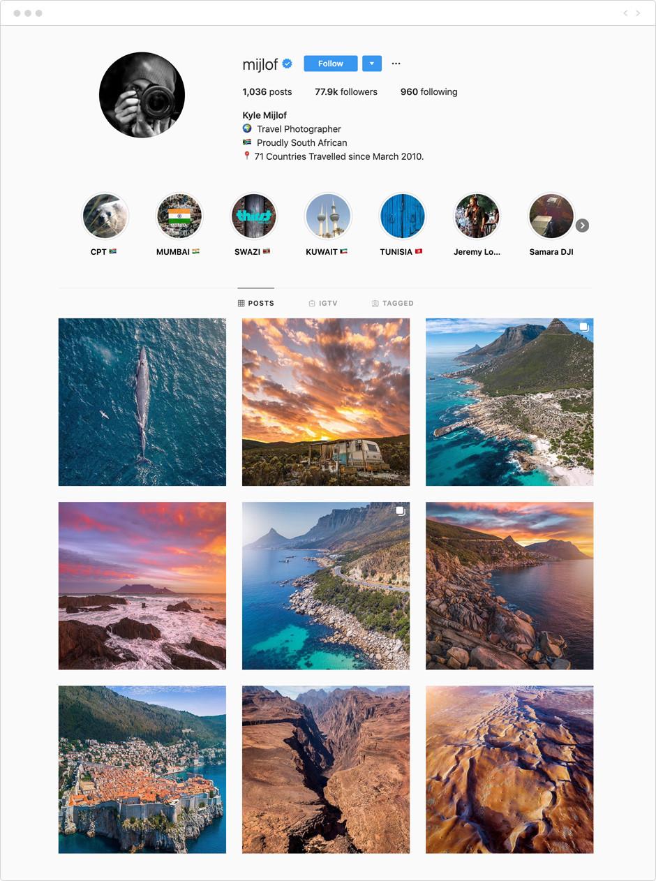 Kyle Mijlof - Photographes à suivre sur Instagram