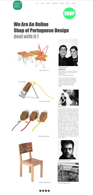 Capture d'écran du site Portugal Design Market