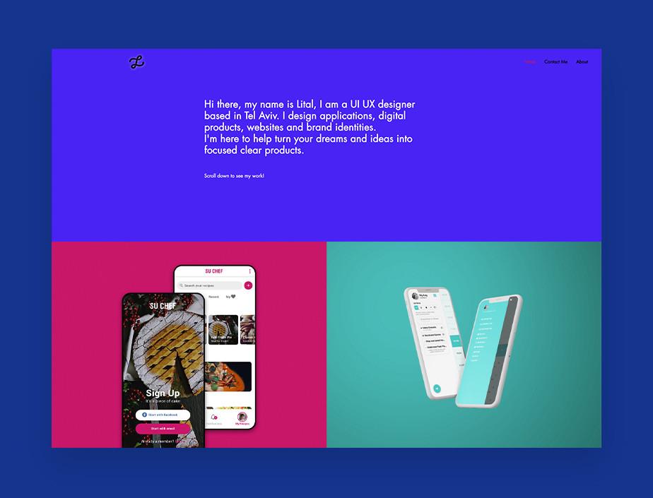 UX전문 디자이너 리탈 카르니의 포트폴리오 웹사이트 이미지