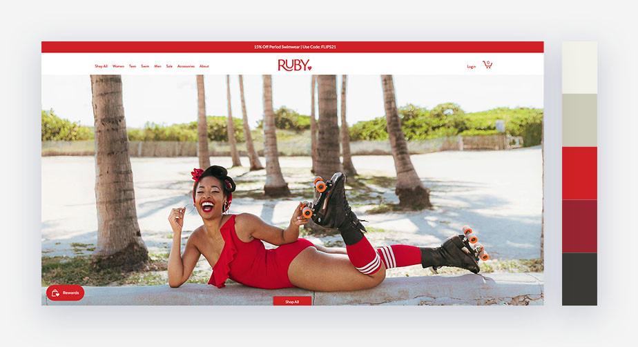 50 paletas de cores para o seu site: vermelho lúdico
