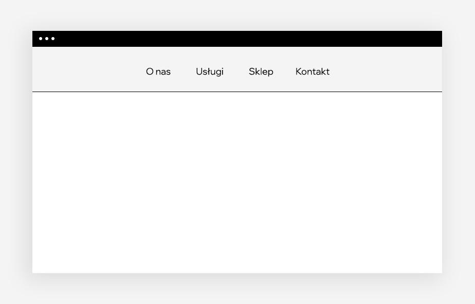 projektowanie stron internetowych – klasyczne menu