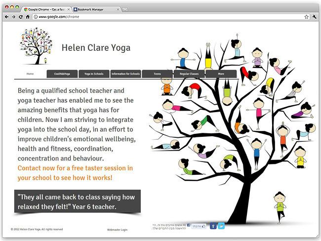 Página de Inicio de Helen Claire Yoga