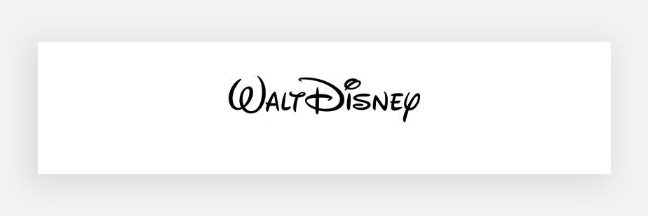 Примеры известных логотипов: Disney