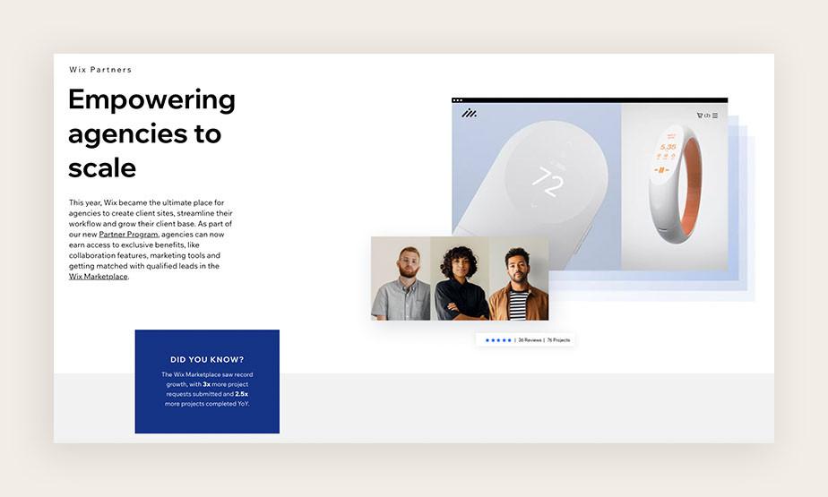 web sitesi kurma: wix marketplace