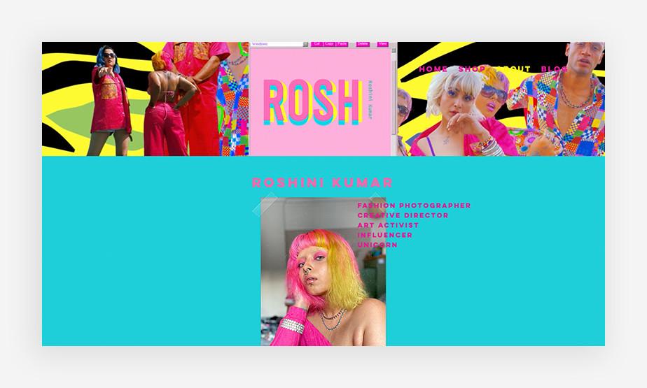 Het beste website voorbeeld van Roshini Kumar