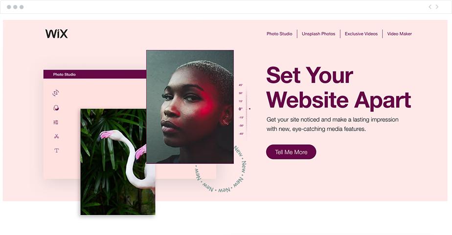 Wix landing page tasarım örneği