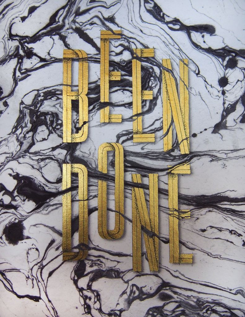 Been done hand lettering by Nim Ben-Reuven