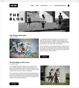 веб-сайт блог