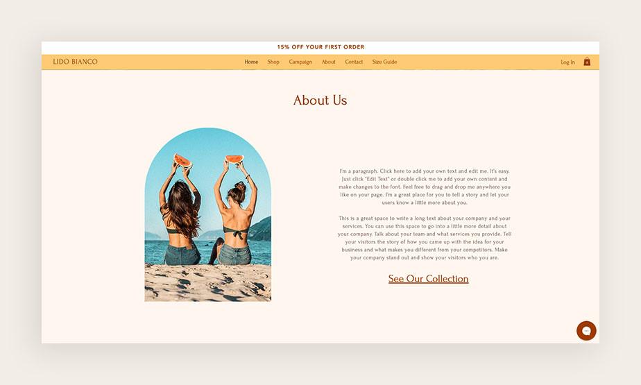 web sitesi kurma: web sayfaları - hakkında sayfası