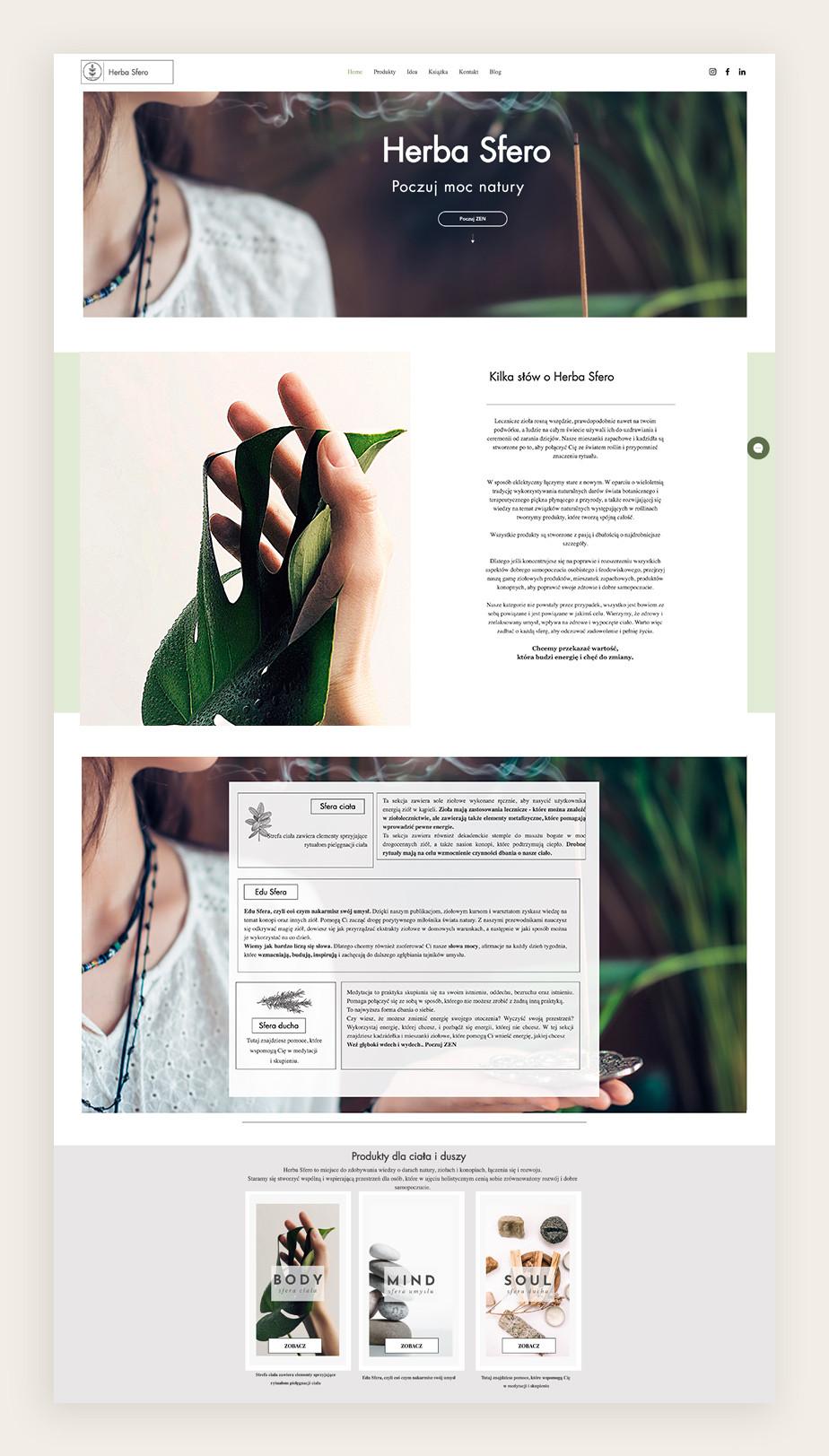 Strona internetowa Wix - Herbasfero