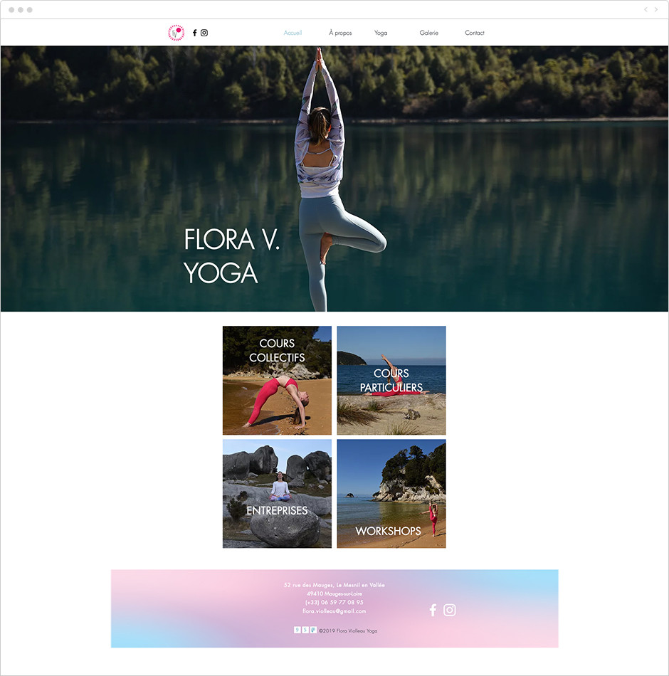 Site vitrine - Flora V. Yoga