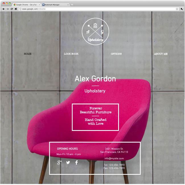 Шаблон сайта для дизайнера интерьеров