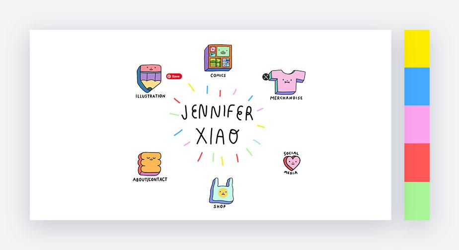 50 paletas de cores para o seu site: tons doces