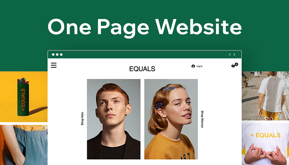 How to create a one-page website