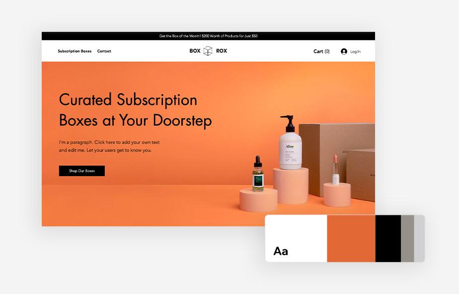 пример использования цветовой палитры в веб дизайне