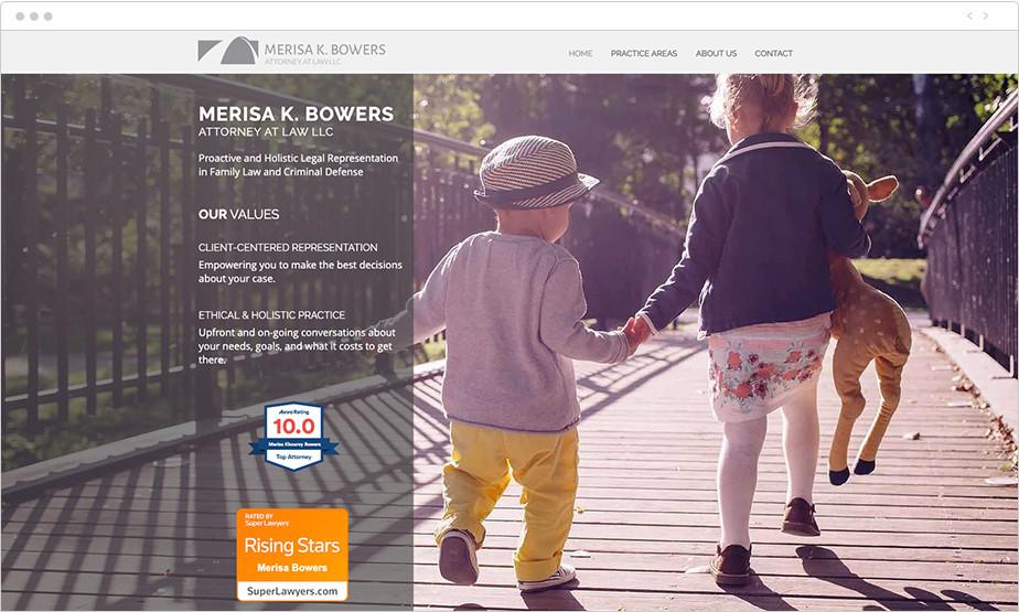 Best law firm websites Merisa K Bowers
