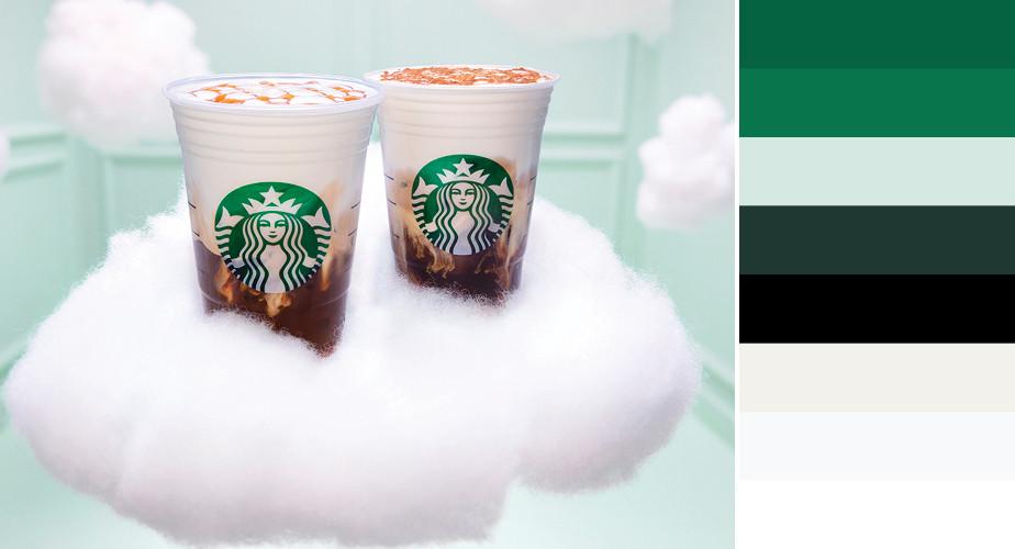 Paleta de cores da marca Starbucks
