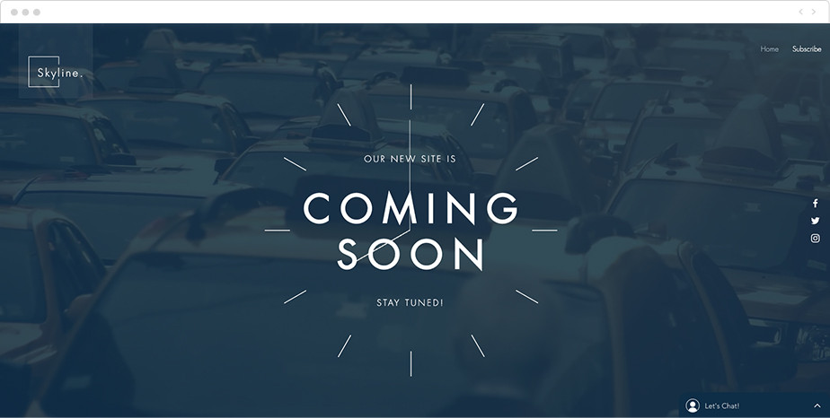 Coming soon free landing page template