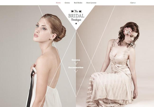 Шаблон для сайта свадебного салона