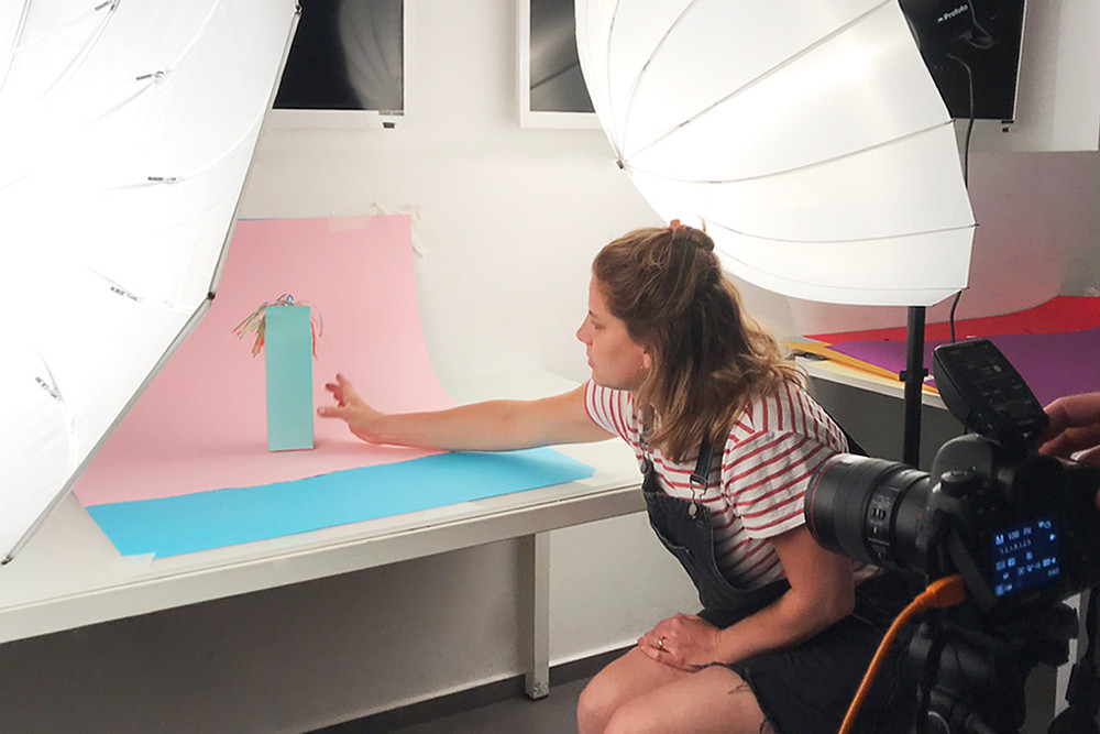 Product photography behind-the-scenes