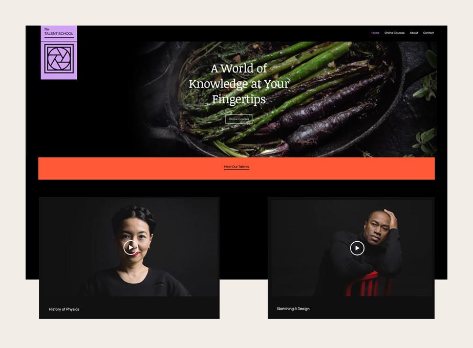 웹사이트에 교육을 위한 동영상을 제작 해 업로드 한 이미지