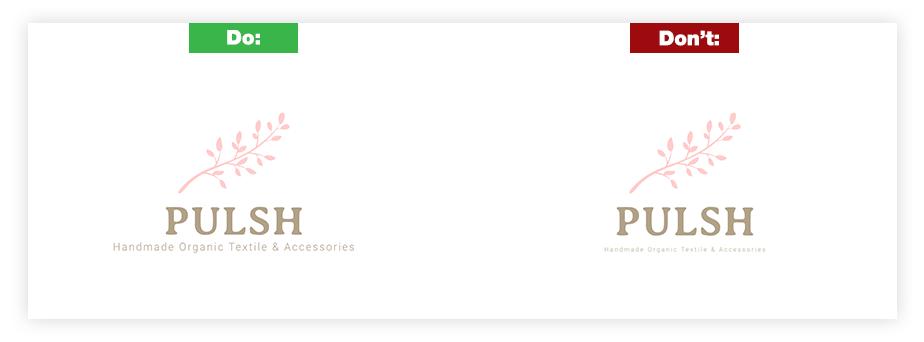 Ein Beispiel für ein gutes Logo und ein schlechtes Logo zum Thema Lesbarkeit