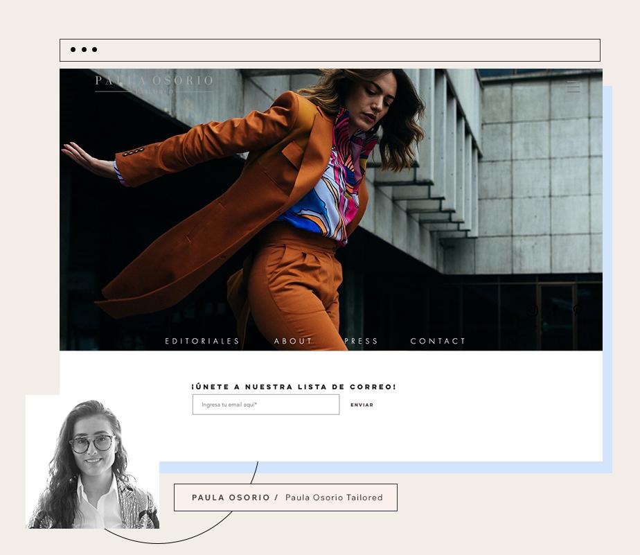 Paula Osorioデザイナー兼テイラーPaula Osorioさんのホームページ