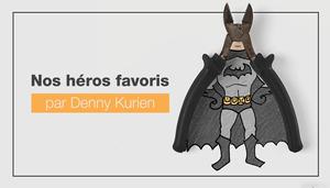 Il utilise des objets du quotidien pour illustrer des héros de la pop culture