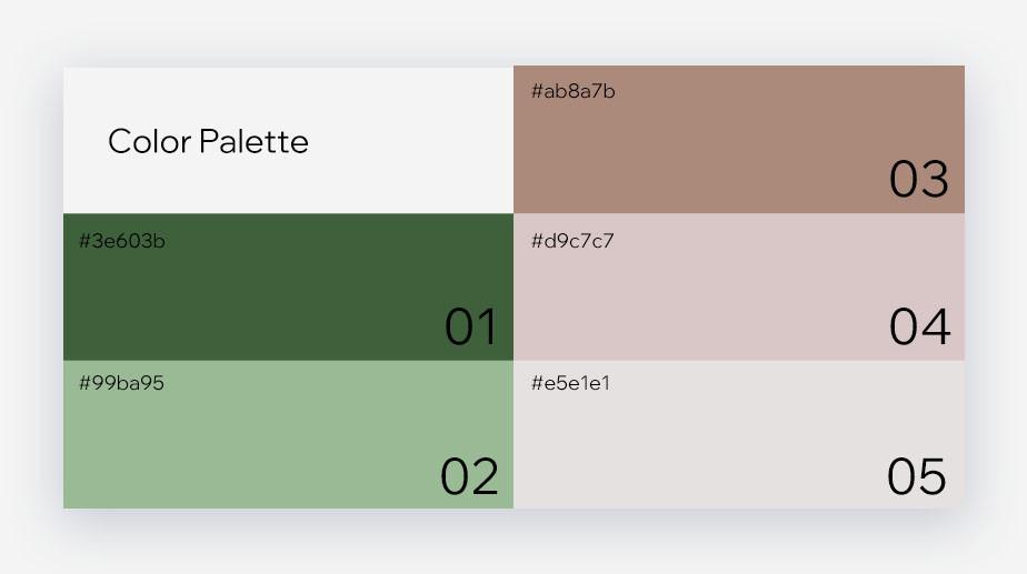 브랜딩의 한 요소인 색상 팔레트 이미지