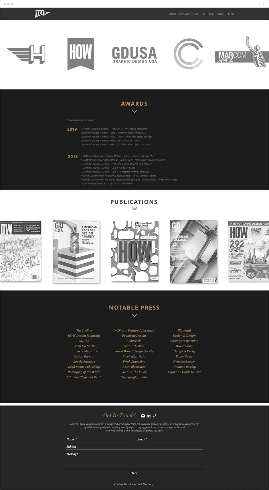 Ejemplo de dossier de prensa de un diseñador