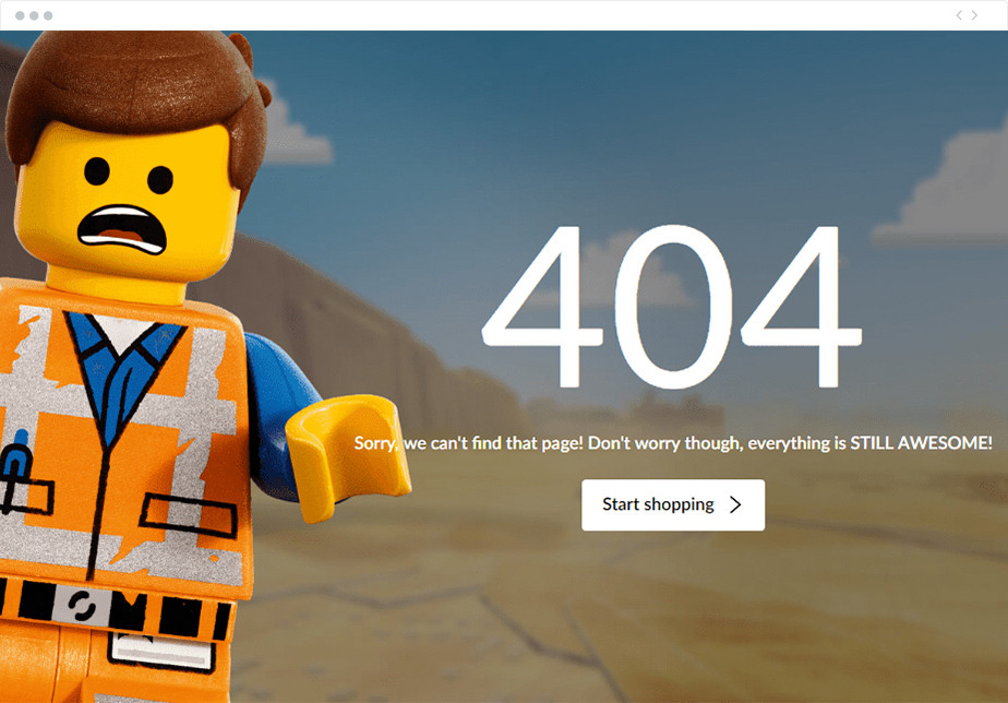 Lego 404 page design