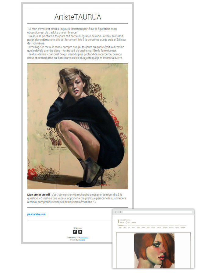 Pascale Taurua - newsletter Wix