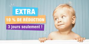 Affiche promotionnelle : visage de bébé
