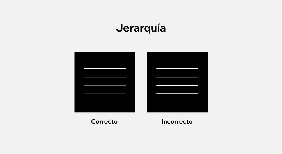 Principios de diseño aplicados al diseño web: jerarquía