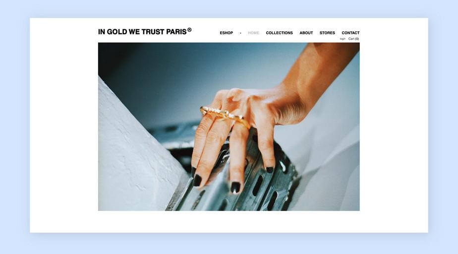Best website design by In Gold We Trust