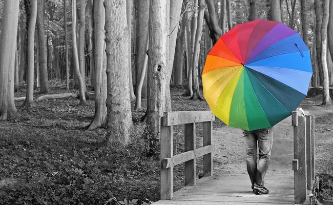 цвет зонтик радуга