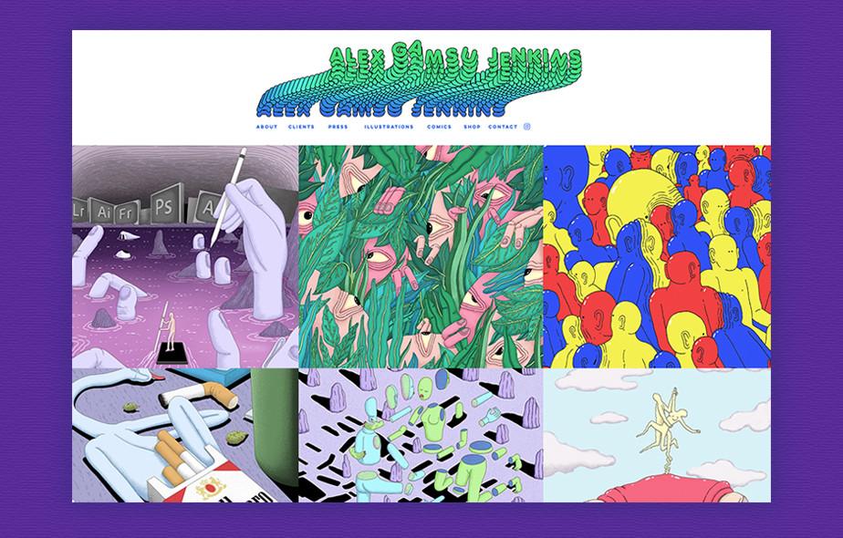 Alex Gamsu Jenkins illustration portfolio